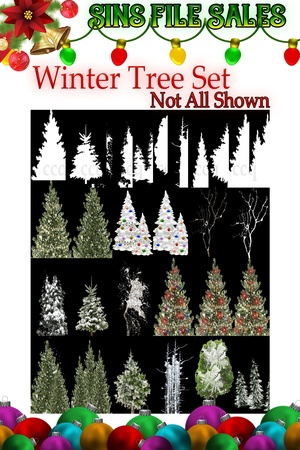 Winter Tree Set with Op Maps *32 Files
