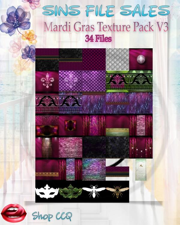 •Mardi Gras Texture Pack V3•