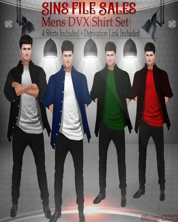 Mens DVX Shirt Set