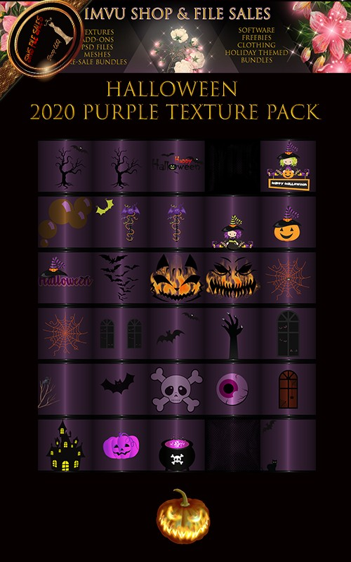 Halloween 2020 Purple Texture Pack - 30 Files🎃