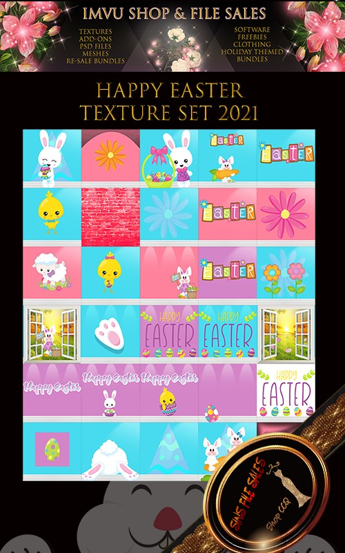 🐰Happy Easter 2021- Texture Pack 30 Files