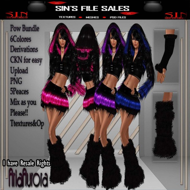 Pow WoW Outfit Bundle W/RESALE RIGHTS