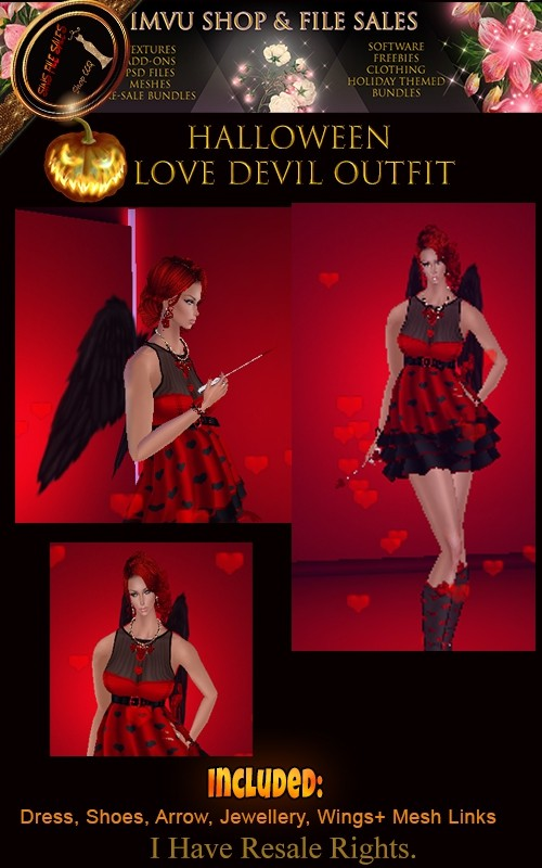 Halloween- Love Devil Outfit🎃