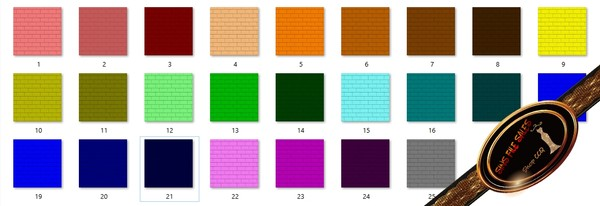 •Multi Colour Brick Texture Set• 25 Files