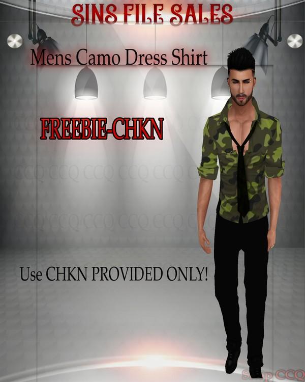 •Freebie•Camo Dress Shirt