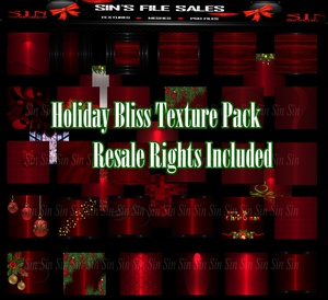 ❄🎄❄Holiday Bliss Texture Pack / Resale Rights Included❄🎄❄