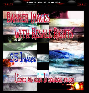 Banner Images w/Resale Rights *25 Images