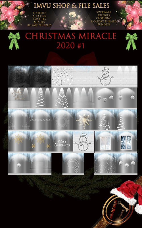Christmas Miracle One- Texture Pack 2020 - 30 Files