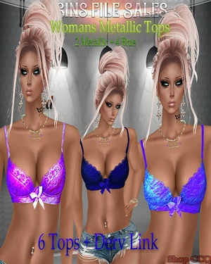 ◘Metallic Bra Set