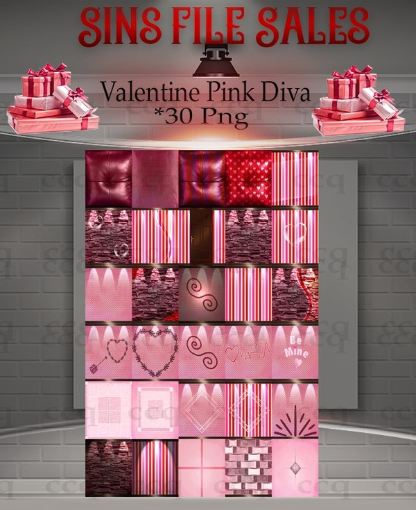 ♥Valentines Pink Diva Texture Pack