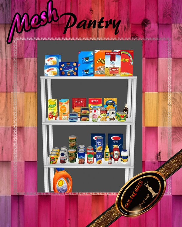 •Pantry Mesh/Food Shelves• 2 CHKNs Included