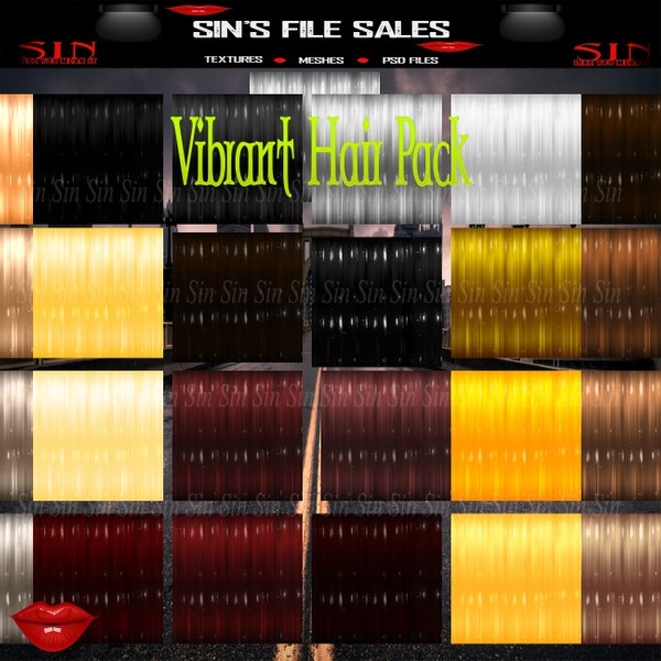 Vib Hair Pack* 25 Hair Textures
