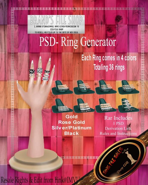 •Ring Generator PSD+ Textures•