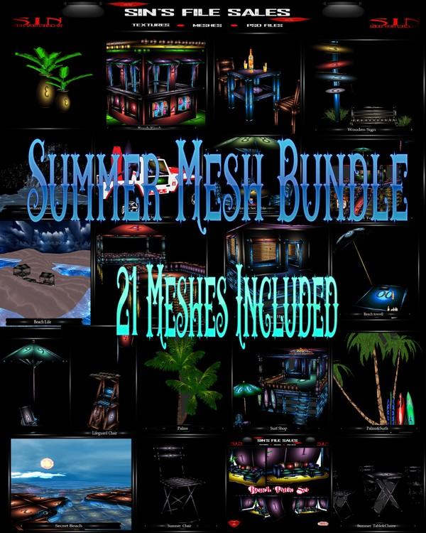 Huge Summer Mesh Bundle *21 Meshes Included