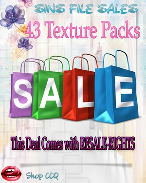 •Mega Texture Pack Deal with RESALE Rights•43 Packs Included
