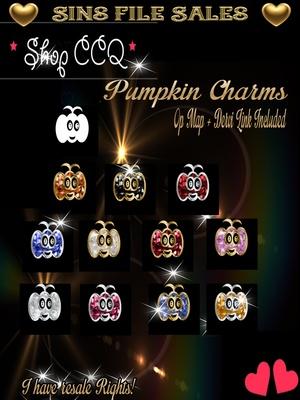 Pumpkin Style Charms/Gems