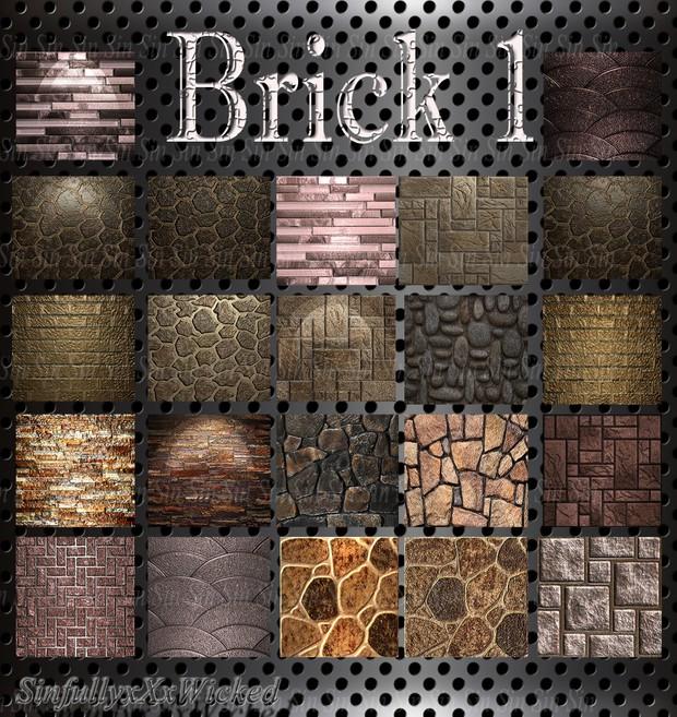 Brick Pack 1 (23 files)