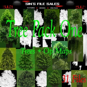 Tree Pack One *35 Files