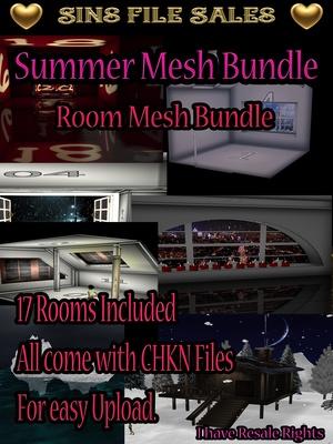 *Summer Mesh Bundle* 17 Room Meshes