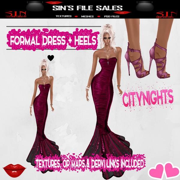 CityNights Formal Dress w/Heels