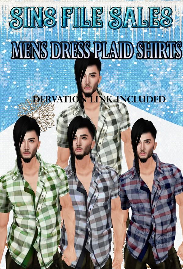 Mens Dressy Plaid Shirts