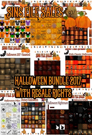 Halloween Texture Bundle 2017 With Resale Rights