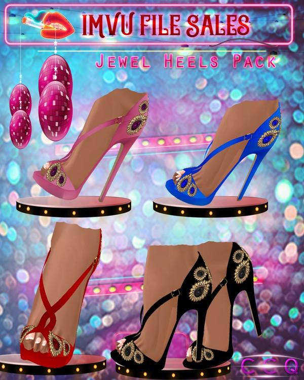 ♥Jewel Heel Pack♥ 4 Pairs