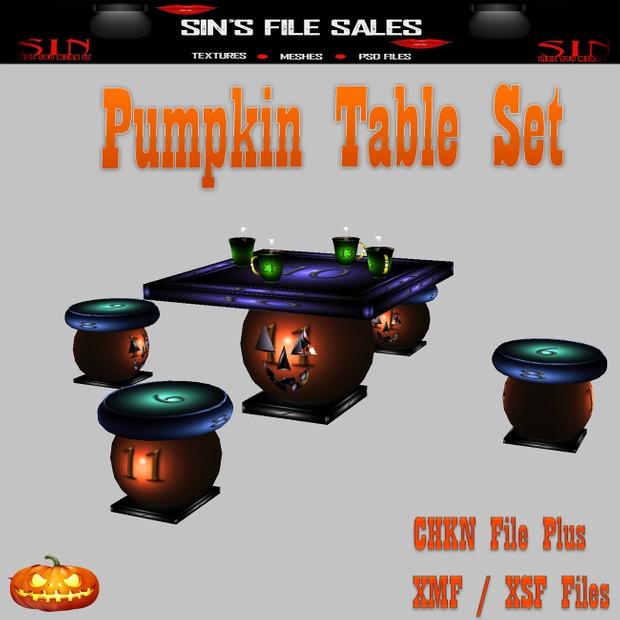 Pumpkin Table Set *Mesh