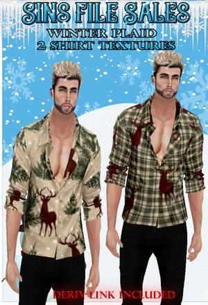 Winter Plaid Mens Shirts