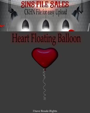 ♥Heart Floating Balloon Mesh *CKHN File