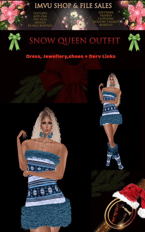 Snow Queen Full Outfitt - Derv Links Included