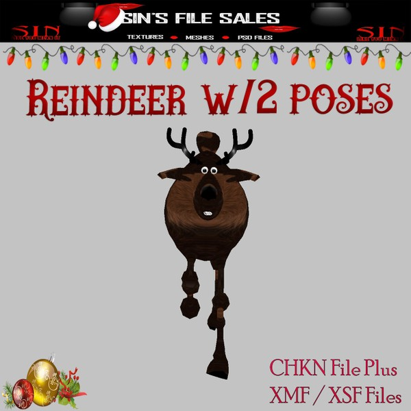 Rudolph Reindeer with Poses *Mesh