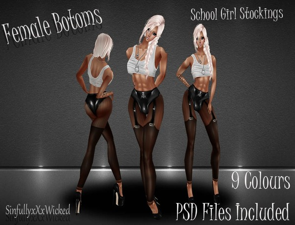 School Girl Stockings *9 stocking Textures