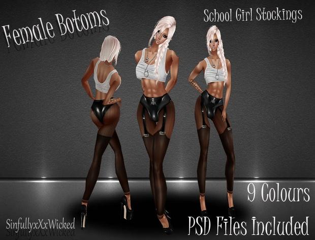 School Girl Stockings *9 stocking Textures