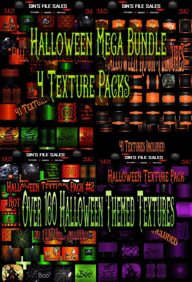 Halloween Mega Bundle* 4 Texture Packs w/Over 160 Textures