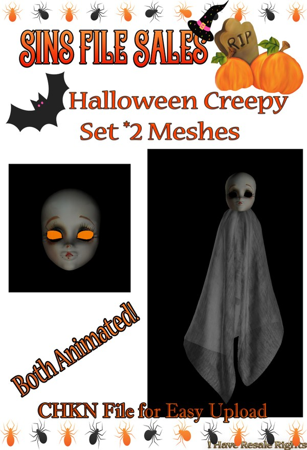 Halloween Creep Animated Set *2 Meshes