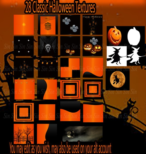 Classic Halloween Texture Package w/RESALE RIGHTS
