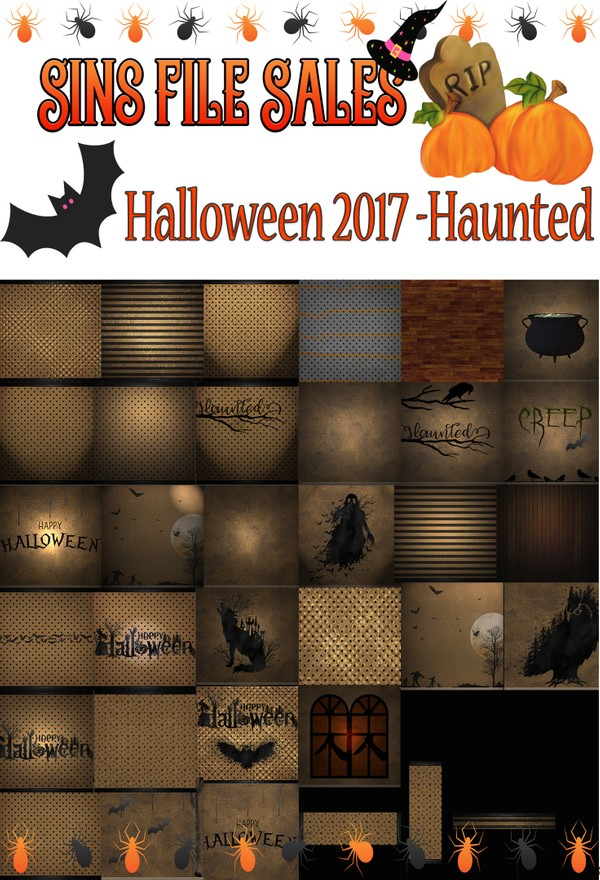 Haunted Halloween Textures 2017