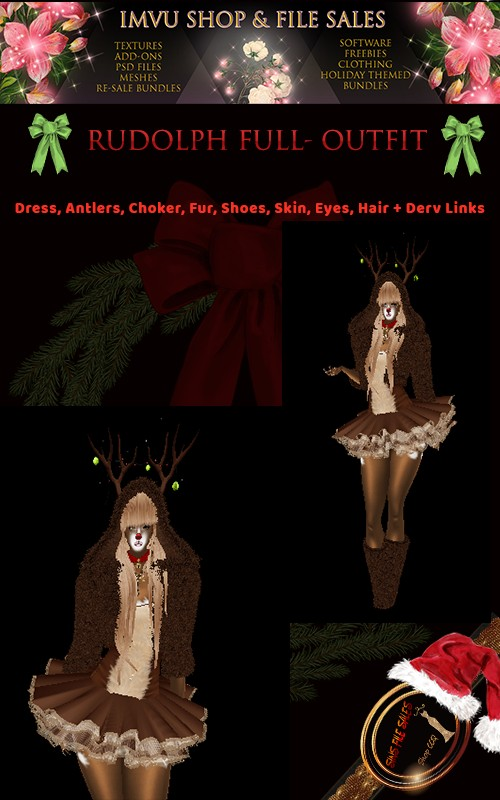 Rudolph Full Outfit with Derv Links