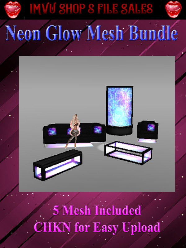 ❇Neon Glow Mesh Bundle- 5 Meshes Included❇