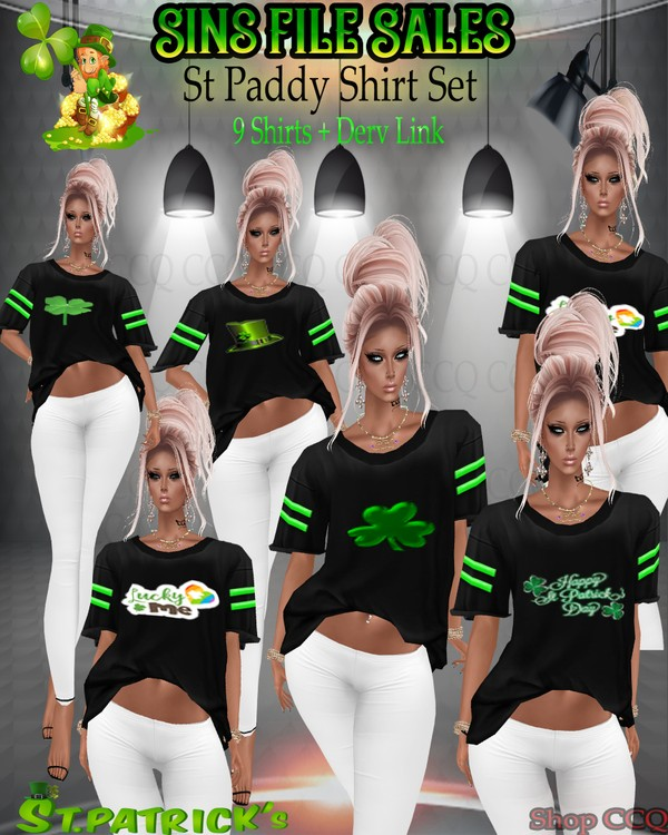 St Paddy's Day Shirt Set *9 Shirts
