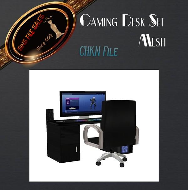 •Gaming Desk Set Mesh• CHKN