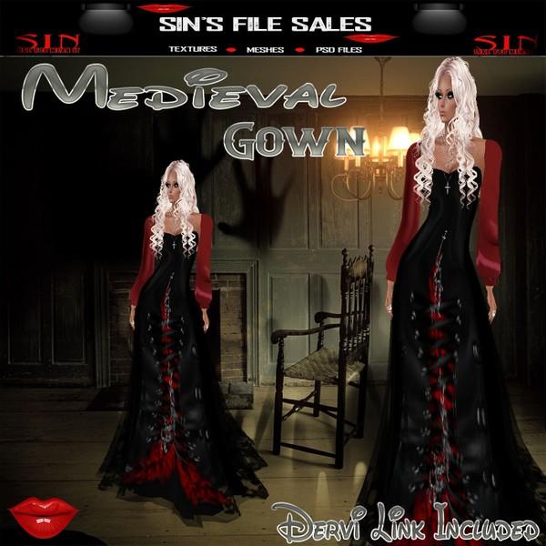 Medieval Gown V2