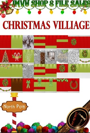 🎅Christmas Village Texture Pack-31 Files