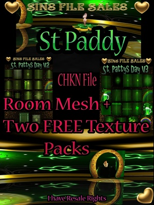 St Paddy Room Mesh + 2 FREE Texture Packs