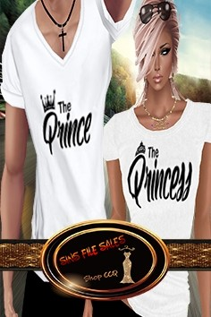 •His/Her Matching Tees•Prince-Princess