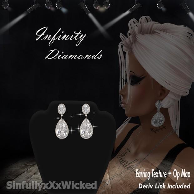 Infinity Diamond Earrings