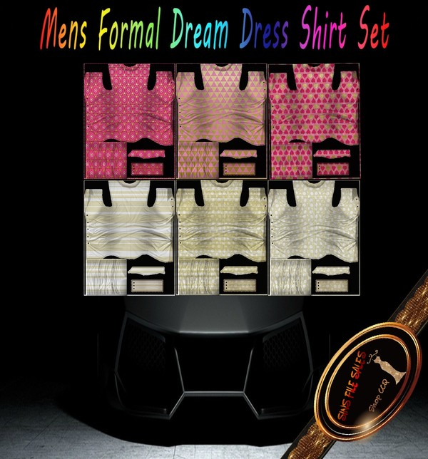 •Mens Summer/Fall Dress Shirt Set• Derv Link Included
