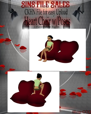 ♥Heart Sofa Chair w/Poses Mesh*CHKN File