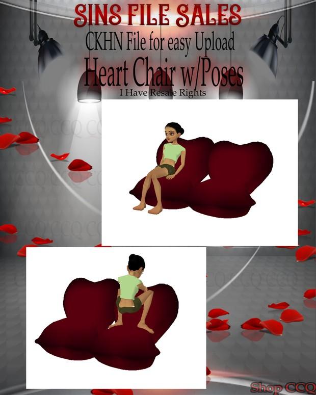 ♥Heart Sofa Chair w/Poses Mesh*CHKN File